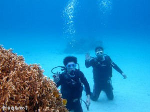 IMG 4316 300x225 ビーチで体験ダイビング。座間味。