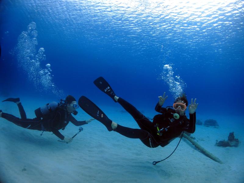 IMG 3382 トライリンガルな体験ダイビング。