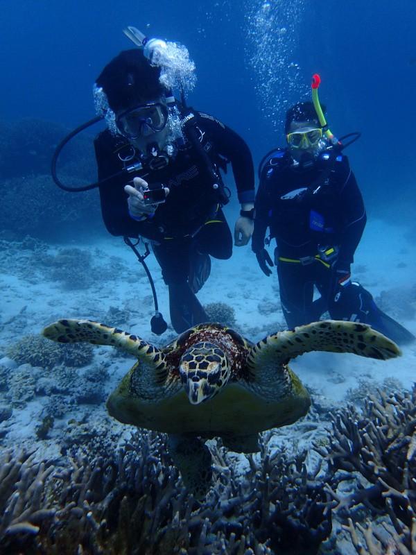 P4172572 e1460885531894 Fun diving!!& もずくの日!